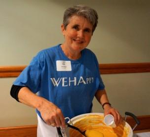 Beth Kerrigan volunteering in West Hartford, CT