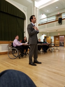 Rep. Mike D'Agostino, of Hamden - visits the WHDTC for Attorney General endorsement