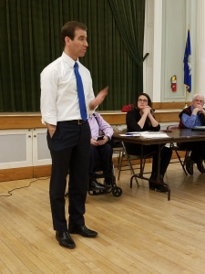 Mayor Luke Bronin visits the WHDTC - running for Governor