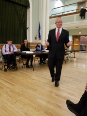Sean Connolly of East Hartford, the state's former veteran's affairs commissioner – visits the WHDTC running for Governor