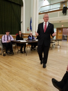Sean Connolly of East Hartford, the state's former veteran's affairs commissioner - visits the WHDTC running for Governor