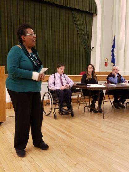 Gail Crockett - Democratic Registrar of Voters addresses the WHDTC