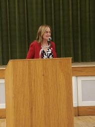 Secretary of State Denise Merrill addresses the WHDTC