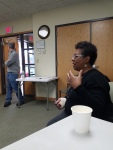 Gail Crockett - running for Registrar of Voters for the Democrats with the District 9 meeting