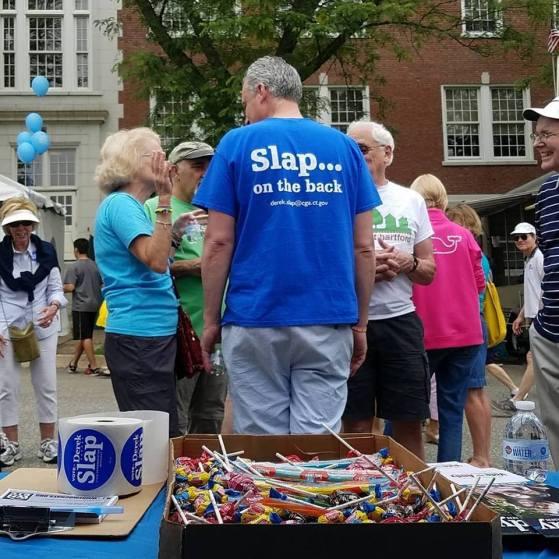 State Representative Derek Slapp at Celebrate! West Hartford 2018