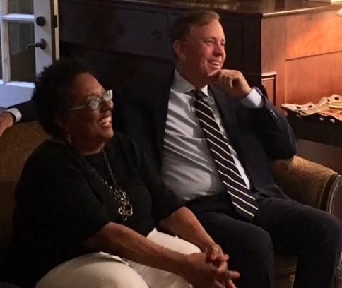 Ned Lamont and Gail Crockett at WHDTC Fundraiser