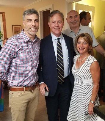 Ned Lamont, John Bailey, Shari Cantor and Bob Hurvitz at June fundraiser for the WHDTC